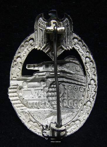Panzerkampfabzeichen in Silber, Gebruder Wegerhoff, Ludensheid