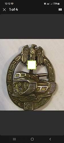 """Panzerkampfabzeichen II Stufe """"25""""?"""