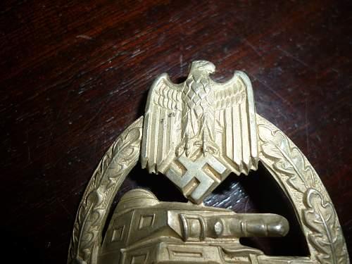Panzerkampfabzeichen silber unmarkiert - Hersteller?