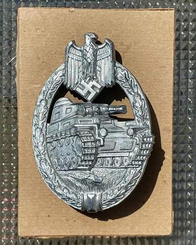 Panzerkampfabzeichen Silber - Hermann Aurich