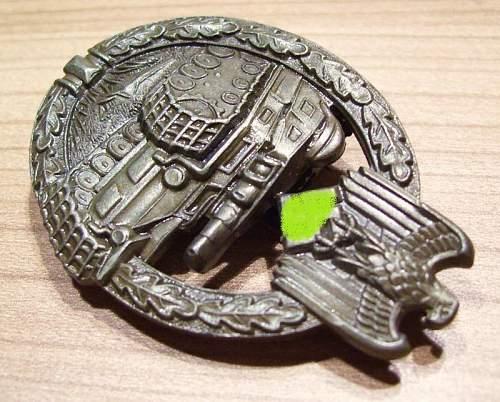 Panzerkampfabzeichen Hersteller FLL 43