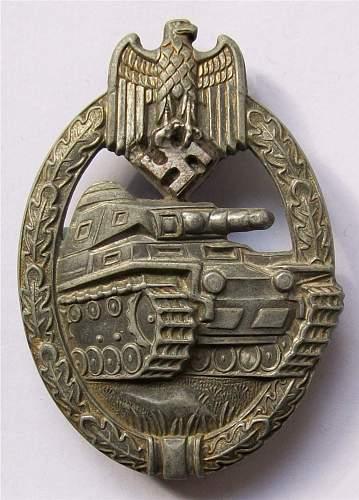 Panzerkampfabzeichen by Steinhauer & Luck.
