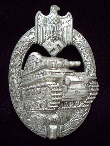 Opinions on this AS silver Panzerkampfabzeichen