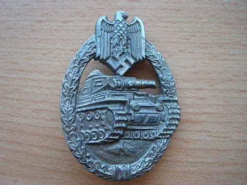 Panzerkampfabzeichen in silber - original ?