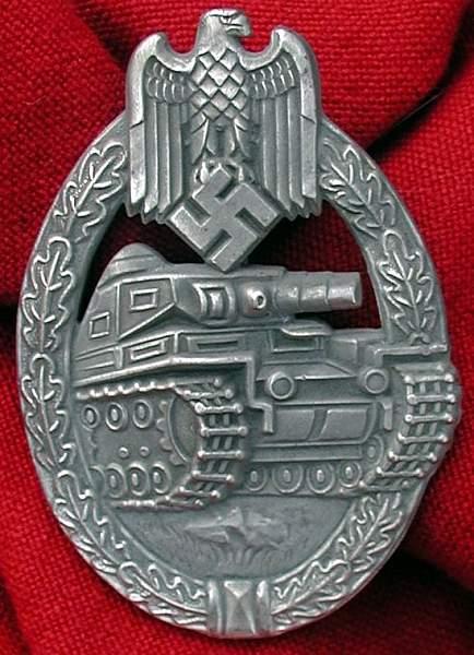 Panzerkampfabzeichen in Silber Hobacher