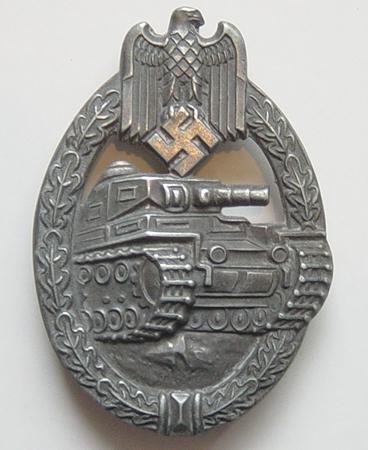 """Panzerkampfabzeichen im Silber: maker """"RS"""""""