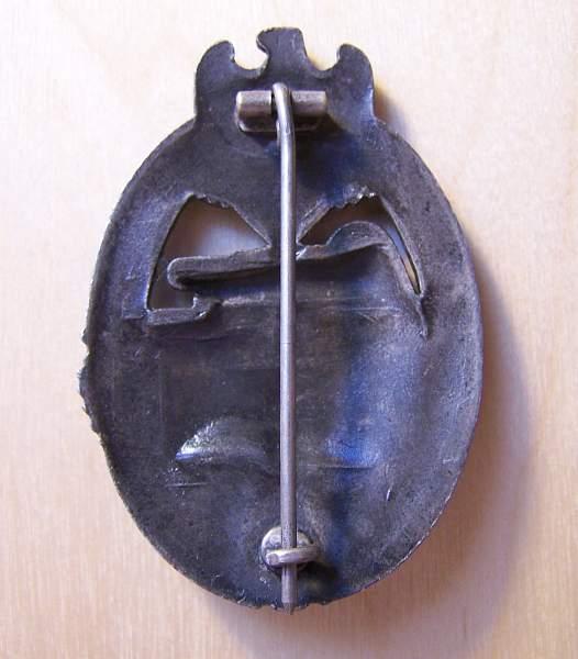Panzerkampfabzeichen in Silber by Aurich