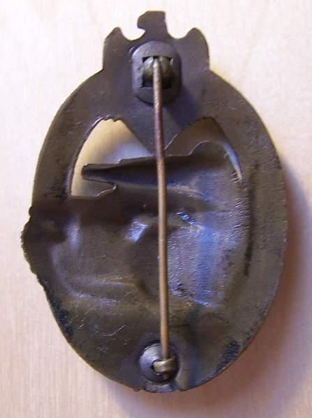 Panzerkampfabzeichen in Bronze by AS