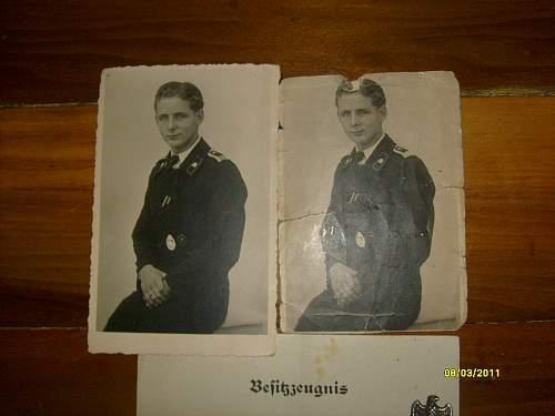 Panzerkampfabzeichen with certificate.