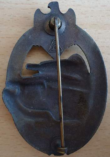 Heer Panzerkampfabzeichen in Bronze by AS