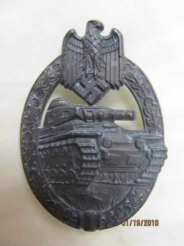 My first Panzerkampfabzeichen in silver!
