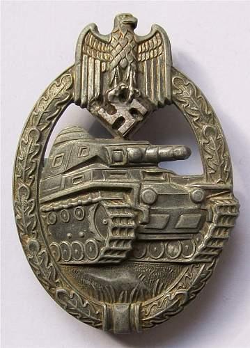 Heer Panzerkampfabzeichen - silber