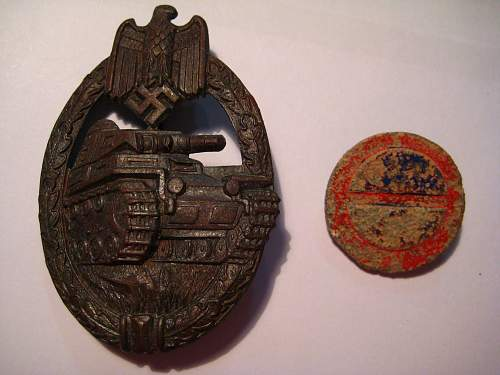 Panzerkampfabzeichen in bronze by wurster