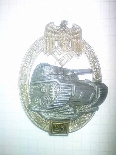 Panzerkampfabzeichen 25 original?