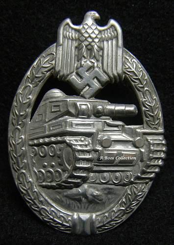 Re: Panzerkampfabzeichen for opinions.