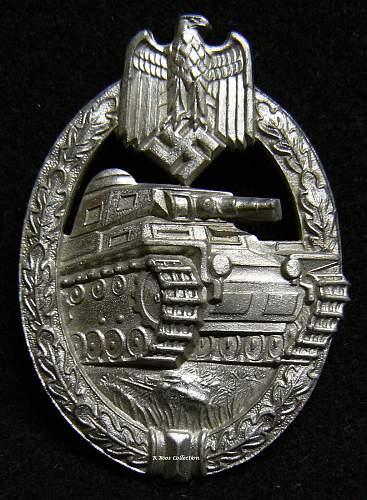 Panzerkampfabzeichen in Silber, Hermann Aurich