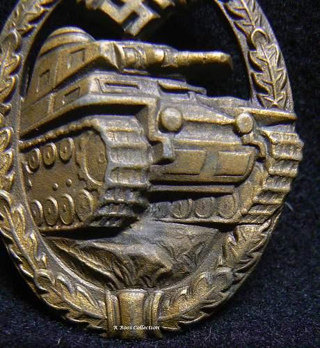 Original hollow backed Panzerkampf Abzeichen in Bronze?