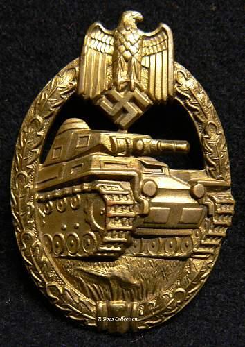 Bronze Panzerkampfabzeichen