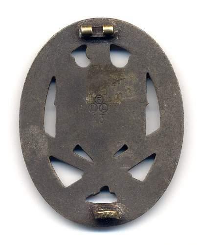 Panzerkampfabzeichen in Silber,  Freidrich Linden, Ludenschied