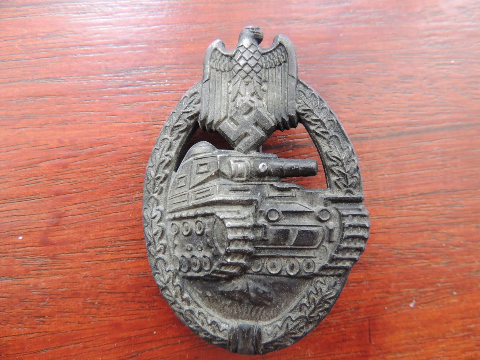 Panzerkampfabzeichen original or repro?