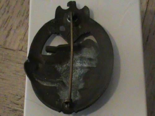 Panzerkampfabzeichen - AS in triangle.