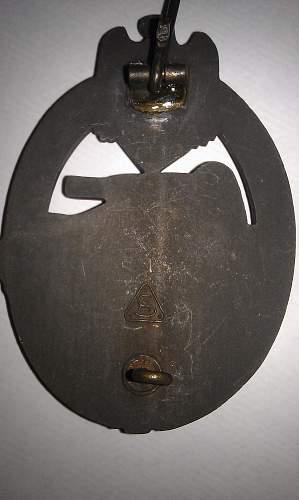 Panzerkampfabzeichen - Bronze - AS marked - Real or Fake?