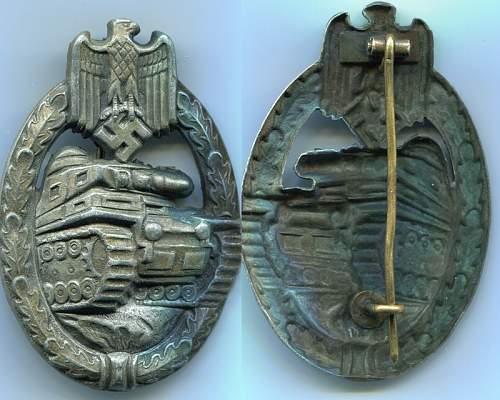 Panzerkampfabzeichen coming up at auction.