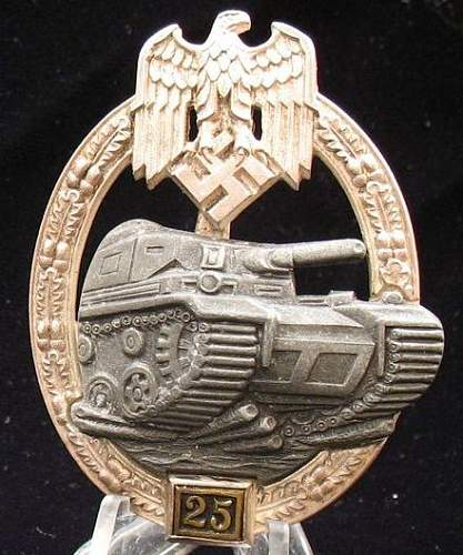 Panzer Badge 25 engagements