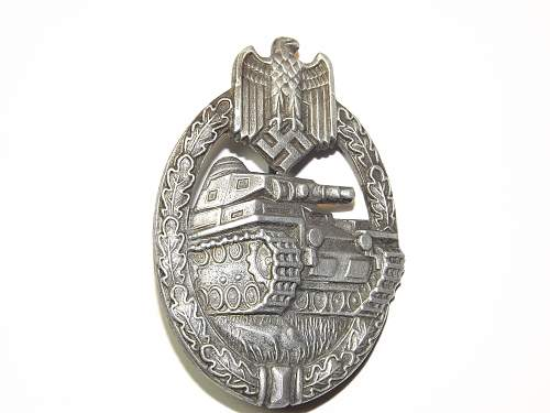 Panzerkampfabzeichen im Silber for authentication please
