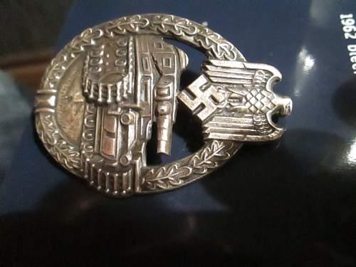 Real or Fake panzer badge R.S.
