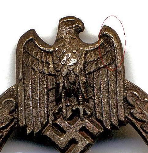Panzerkampfabzeichen FLL43 PAB