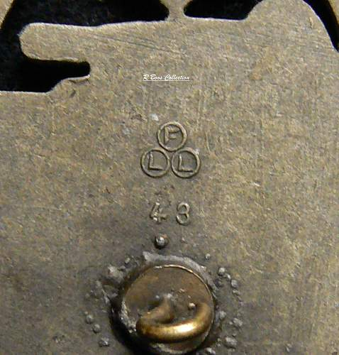 Panzerkampfabzeichen in Bronze, FLL 43, Freiderich Linden, Ludenschied
