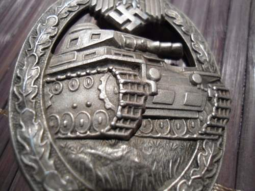 Panzerkampfabzeichen in Silver