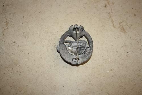 """Panzerkampfabzeichen III Stufe """"50""""."""