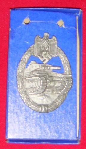 is this real? Panzerkampfabzeichen badge.