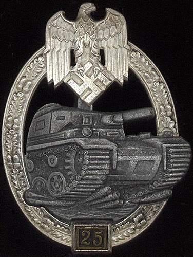 """Panzerkampfabzeichen II Stufe """"25"""" - JFS"""