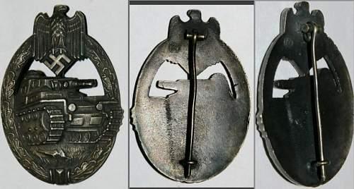 Panzerkampfabzeichen/German tank badge