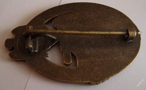 Panzerkampfabzeichen original of FAKE?