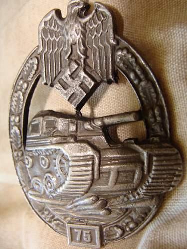 Tank battle badges - 75 class
