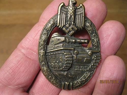 Panzerkampfabzeichen fake or original