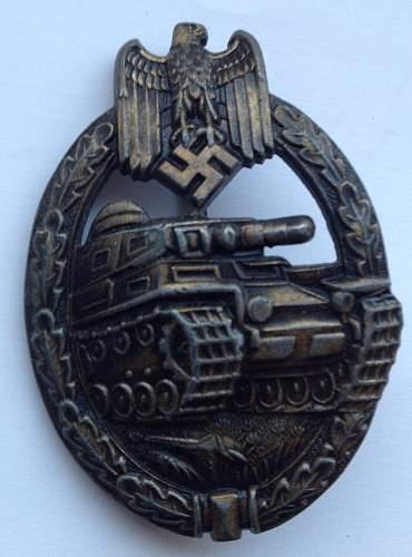 Panzerkampfabzeichen.