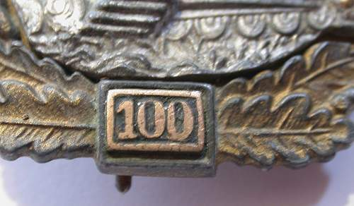 What do you think about this Panzerkampfabzeichen 100 badge?...