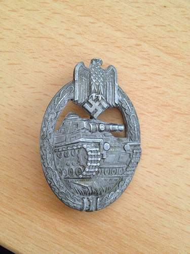 Click image for larger version.  Name:Panzer assualt badge silver front.jpg Views:37 Size:321.2 KB ID:659715