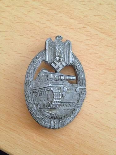 Panzerkampfabzeichen in Silber maker?