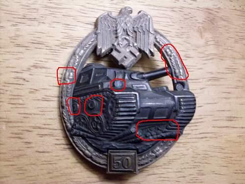 """Panzerkampfabzeichen III Stufe """"50"""" opinion."""