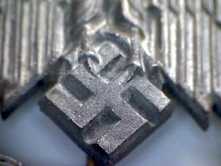 """Panzerkampfabzeichen III Stufe """"50"""" by Gustav Brehmer of Markneukirchen."""