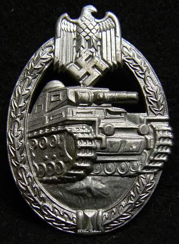Panzerkampfabzeichen in Silber, Unmarked Frank & Reif