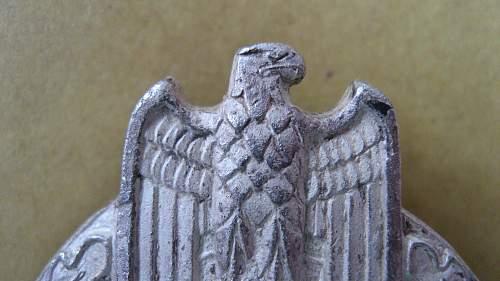 panzerkampfabzeichen in silber by wurster
