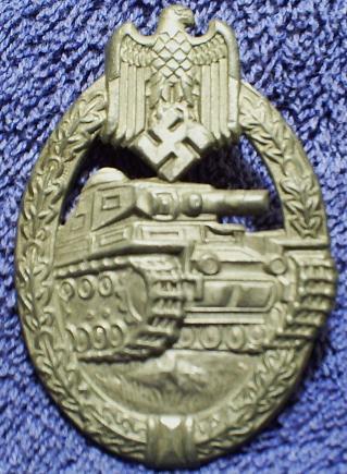 Panzerkampfabzeichen in silver unmarked