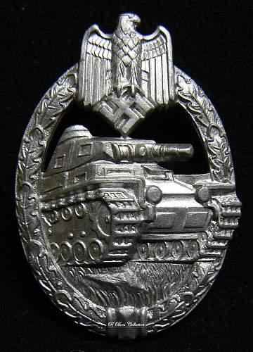 Panzerkampfabzeichen in Silber, KWM, Karl Wurster